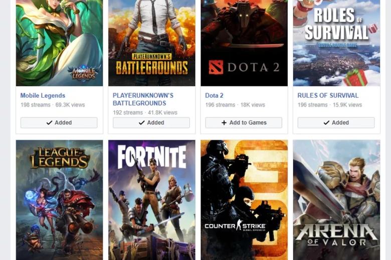 Facebook Live Stream Games