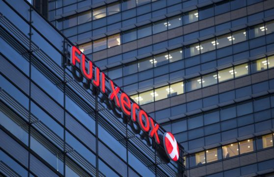Fujifilm Holdings Logos As The Company Announces A Deal With Xerox Corp.