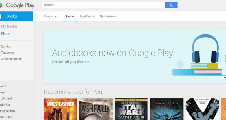Google Play Store Audiobook Banner