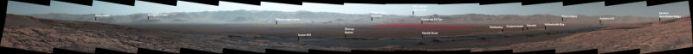 Mars Panorama Image Curiosity Rover