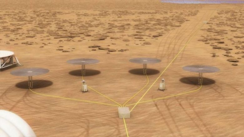 Nasa Mars Base Mock Nuclear Reactors