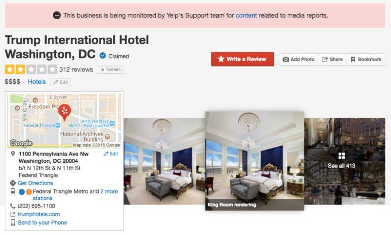 Trump Hotel Rating Yelp