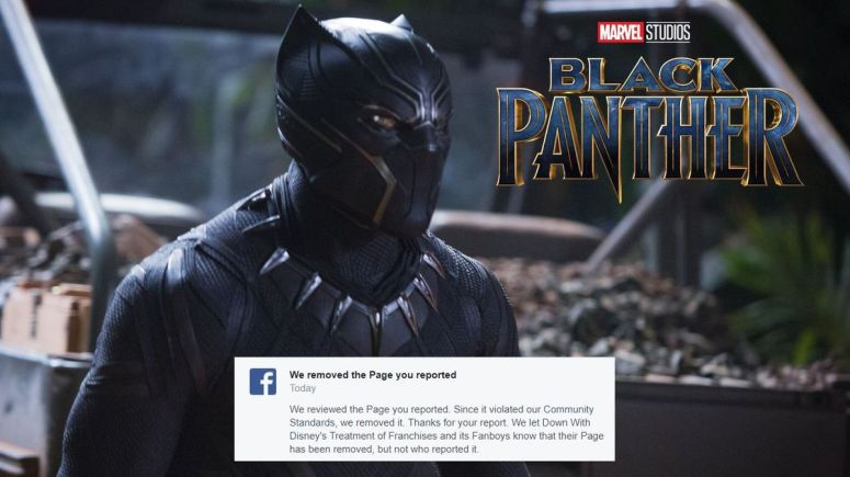 Black Panther Facebook Page Remove