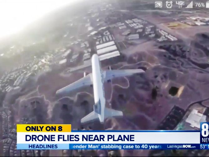 Drone Plane hover landing over